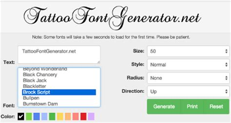 tattoo font generator tattoo lettering