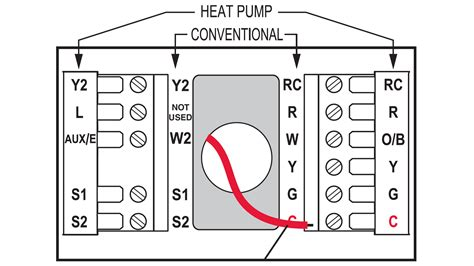standard household wiring diagram for thermostat