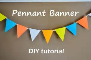 How To Make Paper Pennant Banner - time paper pennant banner food fam crafts