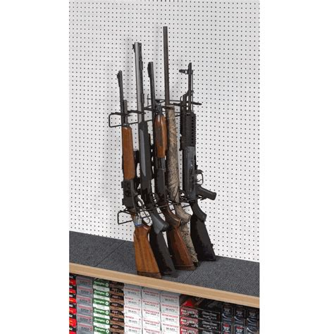 Pegboard Gun Rack by 1 5 Rifle Locking Leans Left Display Peg Board Sku