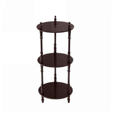 Cherry Etagere frenchi home furnishing 3 tier cherry wood decorative etagere shelf jw107a c the home depot