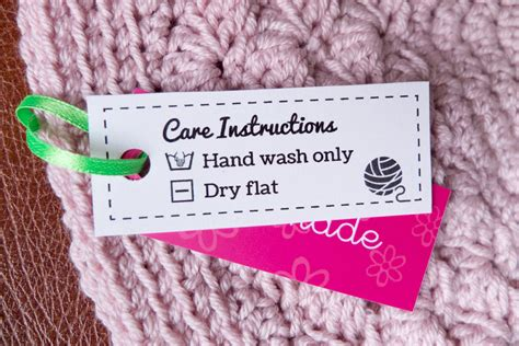 Labels For Handmade Crochet Items - free laundry care labels she s crafty