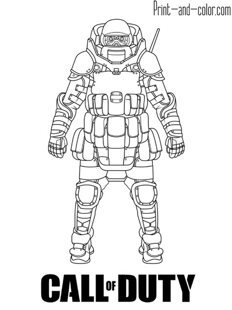 call of duty coloring pages call of duty modern warfare coloring page juggernaut