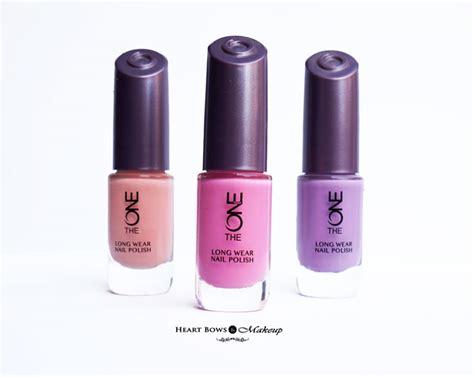 07 Strawberry Milkshake Nail Bpom 10ml oriflame the one wear nail polishes review swatches shades bows makeup