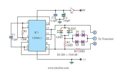 transistor darlington test transistor tester circuit eleccircuit