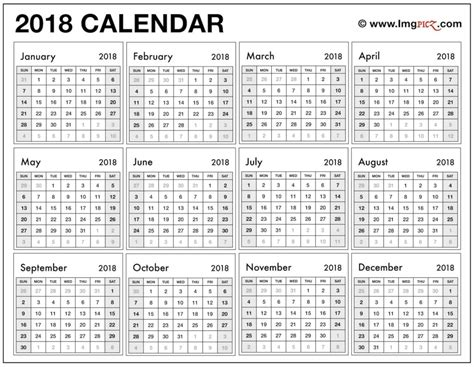 printable calendar q1 2018 2018 calendar grid shoot design