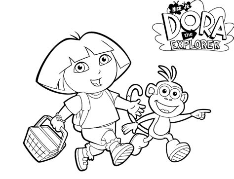dora spanish coloring pages dora the explorer colouring learningenglish esl