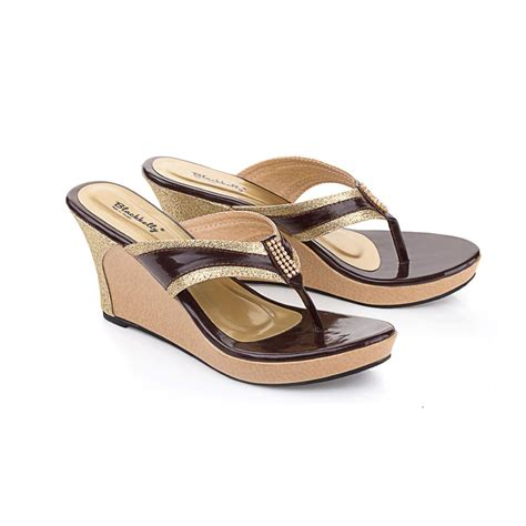 Sandal Wanita At 203a Original Everflow sandal wedges wanita lan 375 original reseller indonesia dropship indonesia reseller