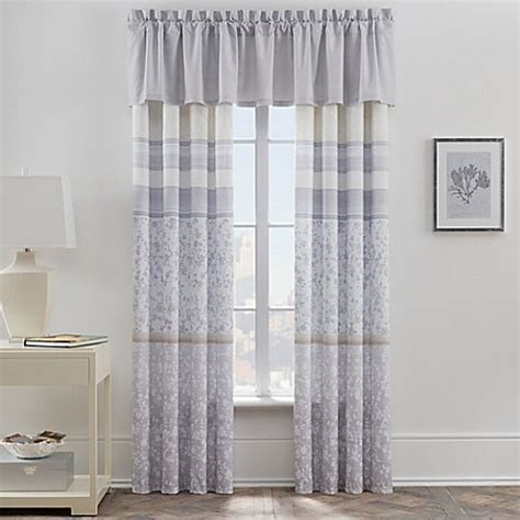 bed bath and beyond window treatments leaves window curtain panel and valance bed bath beyond