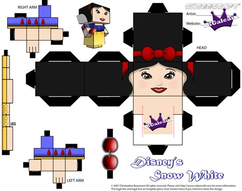 Disney Papercraft - cubeecraft of disney s princess snow white skgaleana