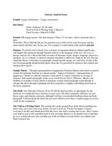 Writing A Literary Analysis Essay by Photo Store Style Analysis Essay Format