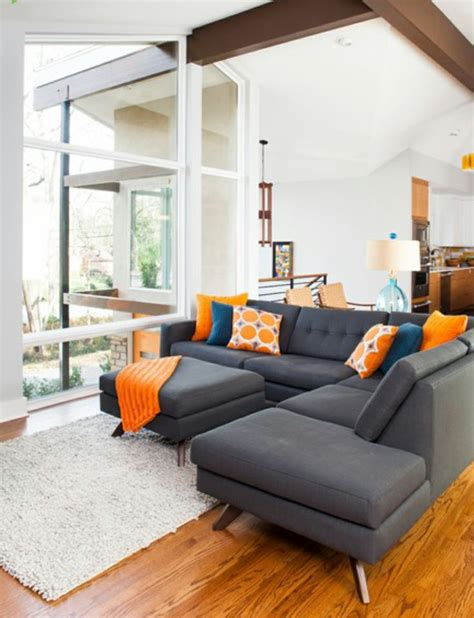 orange white room gray white and orange living room living room