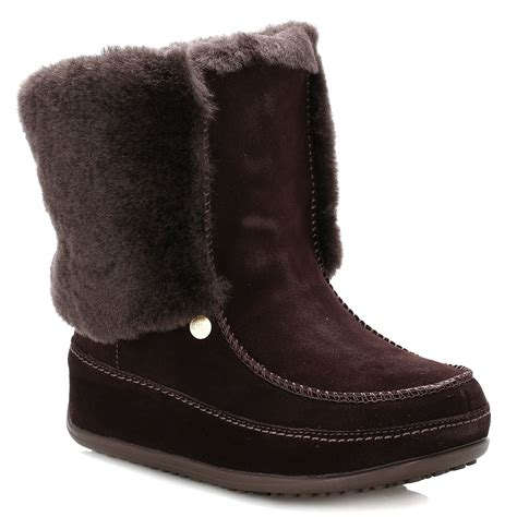 kickers boots gs629 brown fitflop womens brown suede boots supercuff mukluk
