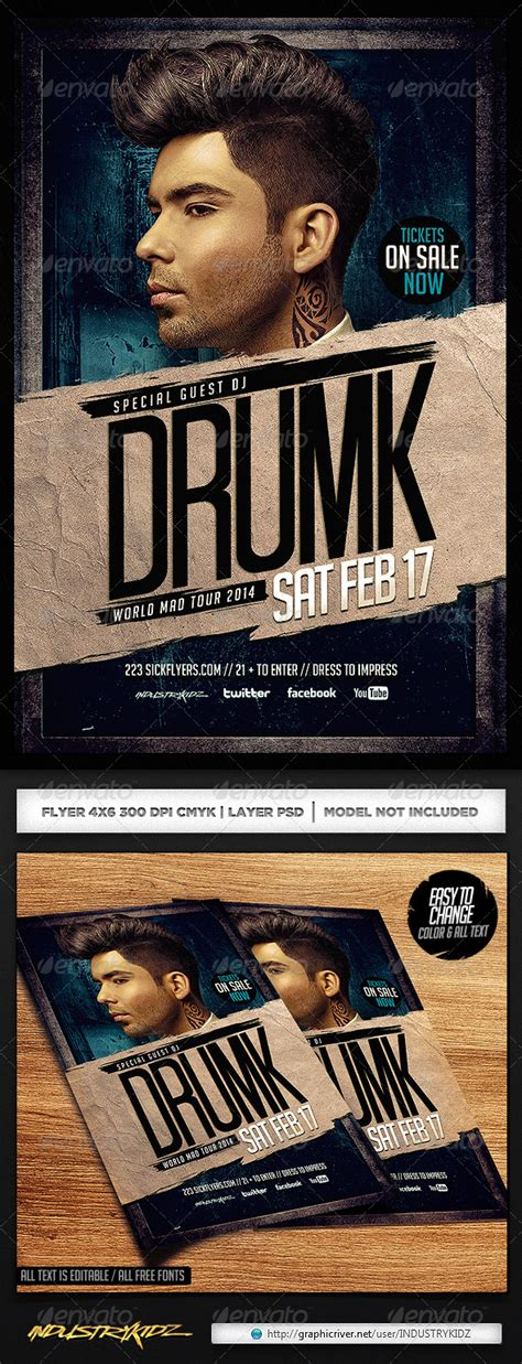 retro house music print template graphicriver dirty house music flyer template 6824215 187 dondrup com