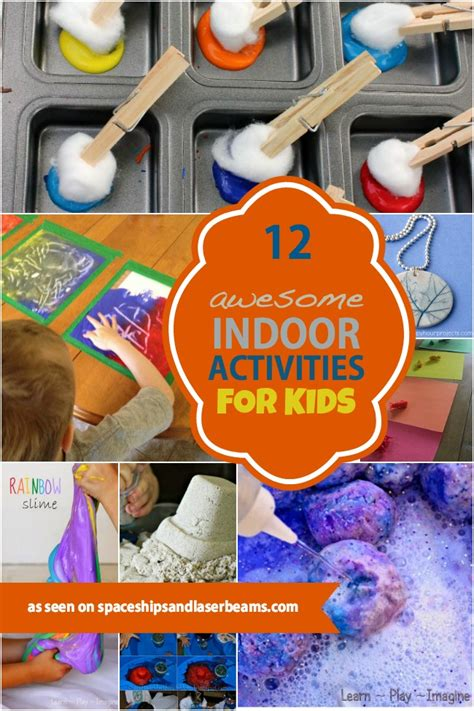 diy indoor games 12 awesome indoor activities for kids spaceships and