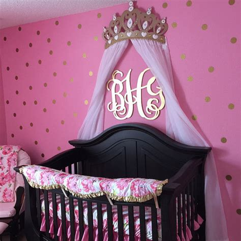Crown Canopy For Baby Crib Crib Crown Canopy Wall Decor Gold With Sheer Panels
