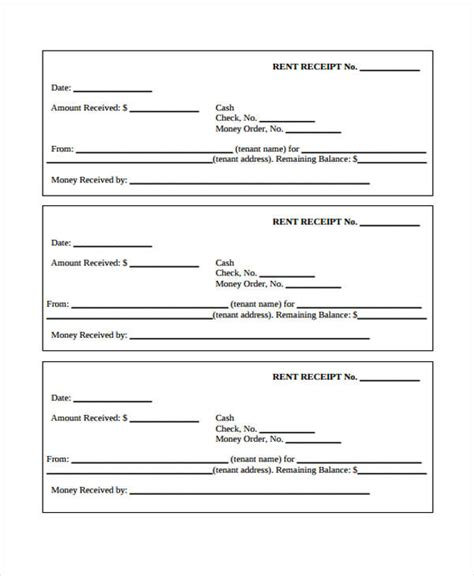 printable hotel receipts printable receipt form deposit receipt form sle