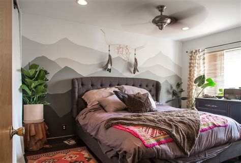 dessin mural chambre adulte dessin montagne stylis 233 en couleur pour d 233 corer les murs