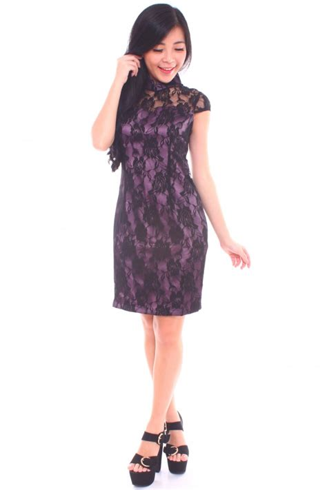 Lace Cheongsam Dress lace cheongsam dress the label junkie