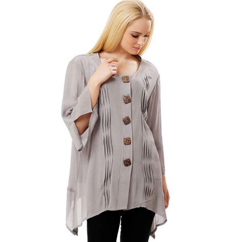 Kinara Jumbo Blouse By Rizky Fashion bfdadi 2016 new autumn fashion blouses casual shirts button irregular hem tops