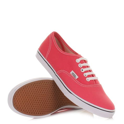 vans trainers womens authentic lo pro paradise pink white