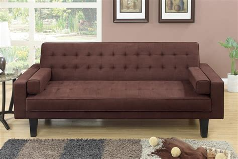 brown futons poundex f7108 brown fabric futon steal a sofa furniture