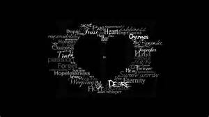 Home Design Story Hack black background heart symbol text typography artwork