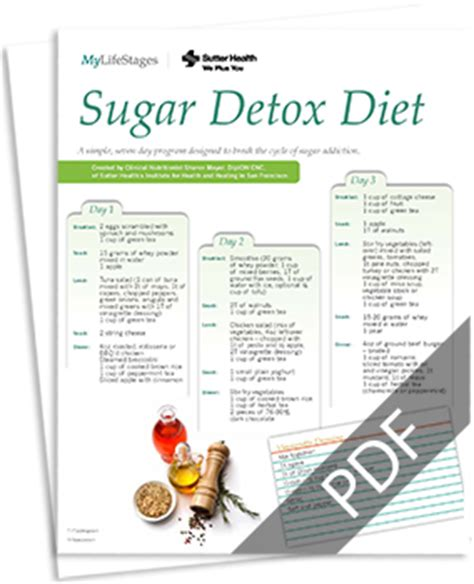 Withdrawal Detox Diet by Detoxification Diet Menu