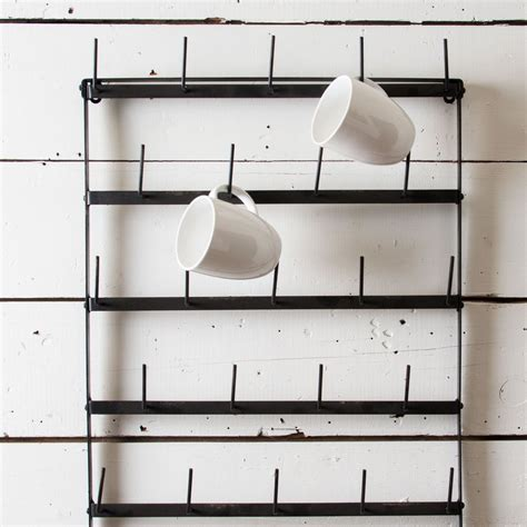 cabinet mug rack mug racks every coffee and tea lover should see