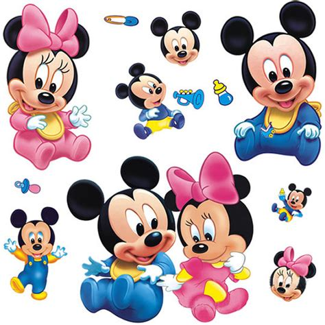 baby mickey mouse wall stickers meget s 248 d wallsticker med baby mickey minnie mouse