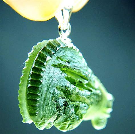 Moldavite 4 05 Gram pendants carved moldavites zodiac aboutmoldavites