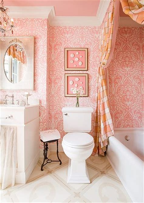 damask bathroom top 15 pink damask wallpapers for interiors inspiration