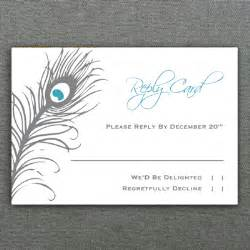 Free Rsvp Cards Templates by Peacock Feather Rsvp Card Template Print
