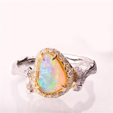 Opal Engagement Rings by Twig Opal Engagement Ring Opal Engagement Ring Unique