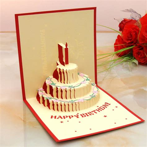 Handmade Birthday Decorations - 3d pop up greeting card handmade happy birthday