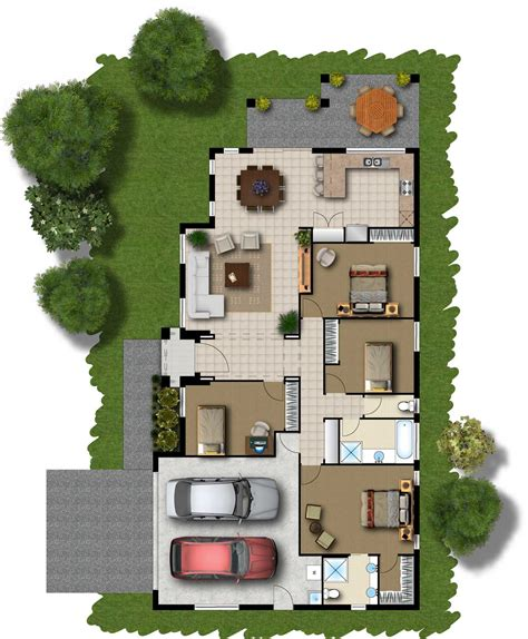 Home Floor Plan Design by 4 Bedroom House Floor Plans 3d House Floor Plans House