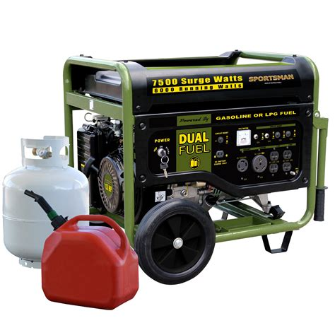 sportsman bi fuel generator 7500 watt absolute generators