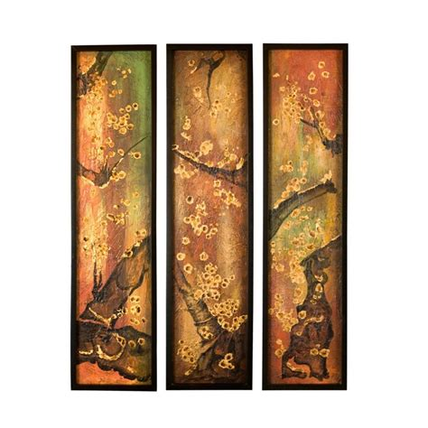 3 section wall art uttermost earth sections wall art in satin black set of
