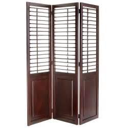Room Dividers plantation espresso brown shutter room divider pier 1 imports