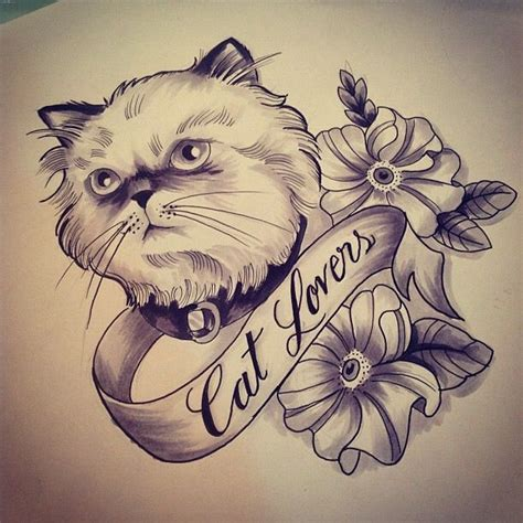 neo trad cat tattoo neotraditional neo traditional tattoo sketch gugo cat