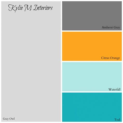 paint colour palette for boys bedroom by benjamin based on gray owl