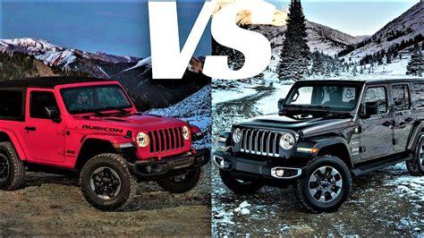 4 door jeep wrangler interior 2 door vs 4 door 2018 jeep wrangler jl driving