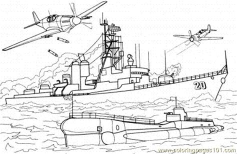 battleship free coloring pages