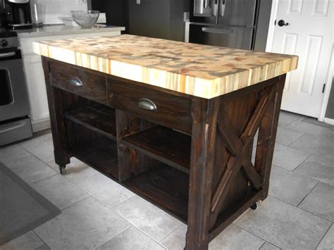 kitchen island with chopping block top ana white double kitchen island with butcher block top diy