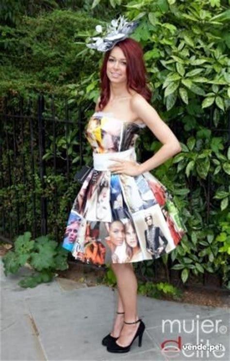 vestido con material reciclado google vestidos and search on pinterest