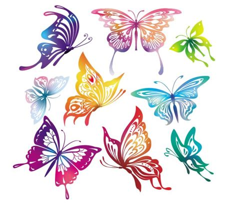 doodle kites meaning カラフルな蝶 great collection of butterfly silhouettes ai eps