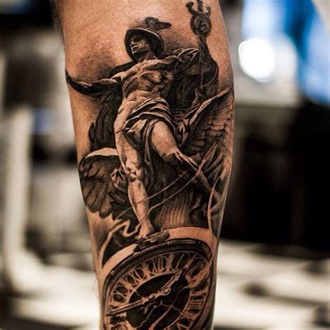 hermes tattoo done today d bng hermes statue ideas