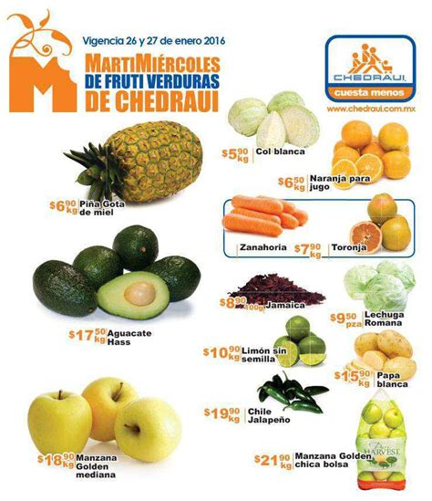 chedraui martes y miercoles de frutas y verduras 13 y 14 de enero chedraui martes y mi 233 rcoles de frutas y verduras 26 y 27