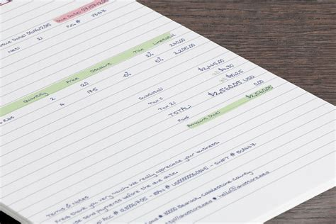 handwritten invoice template invoice template 2017