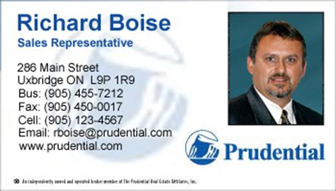 Credit Card Form Prudential Business Card Style Prudential Template 1005